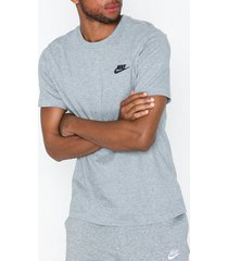 nike sportswear m nsw club tee t-shirts & linnen black/gray