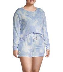 catherine malandrino women's plus tie-dye 2-piece top & shorts set - sweet tie dye - size 3x (22-24)