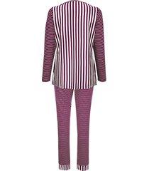 pyjama simone ecru::bordeaux