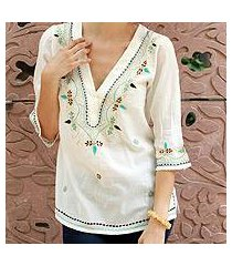 cotton tunic, 'rajasthani muse' (india)