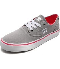 tenis skateboarding gris-fucsia-blanco dc shoes flash 2 tx mx