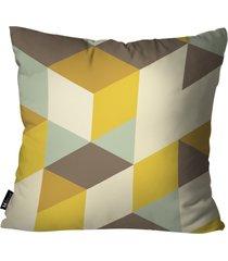 almofada abstrato mdecore amarelo 55x55