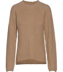d1. detail knitted cotton crew gebreide trui beige gant