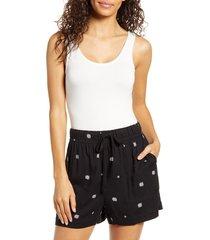 women's gibson x hi sugarplum! bosa scoop neck bodysuit, size x-small - white