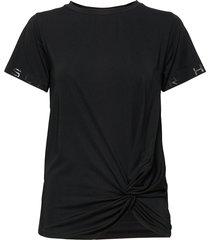 jolie knot tee t-shirts & tops short-sleeved svart röhnisch