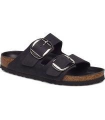 arizona big buckle shoes summer shoes flat sandals svart birkenstock