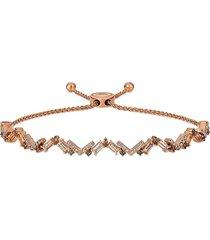 le vian women's 14k strawberry gold®, peach morganite™, chocolate diamond® & nude diamond® bolo bracelet