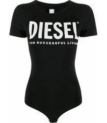 diesel body com estampa de logo - preto