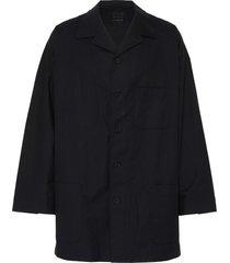 pocket button shirt jacket