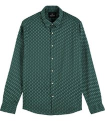 overhemd regular fit groen