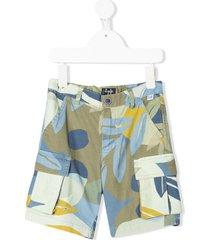 il gufo cargo bermuda shorts - green
