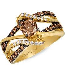 chocolatier® 14k honey gold™, chocolate diamonds® & vanilla diamonds® ring
