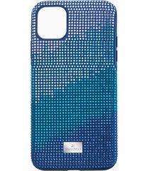 custodia per smartphone con bordi protettivi crystalgram, iphoneâ® 11 pro max, azzurro