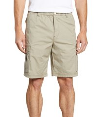 men's big & tall tommy bahama survivalist ripstop cargo shorts, size lt - white