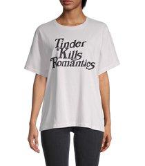 eleven paris women's slogan t-shirt - orchid - size xs