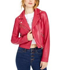 guess venom faux-leather moto jacket