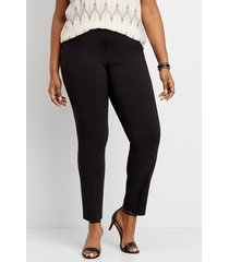 maurices plus size womens black pull on bengaline skinny ankle pants
