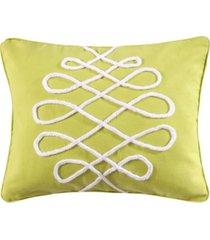 """levtex deva beach lime pillow, 14"""" x 18"""""""