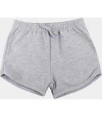 shorts infantil hering básico liso feminino