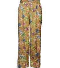 printed wide leg pyjama inspired pants vida byxor multi/mönstrad scotch & soda