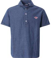 danton chambray pullover short sleeve shirt | indigo | jd3569coc-ind