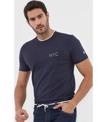 camiseta new era lettering azul-marinho - azul marinho - masculino - dafiti