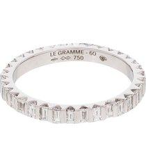 le gramme 18kt white gold diamond full pave ring