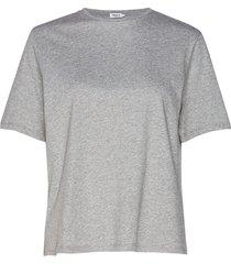 annie cotton t-shirt t-shirts & tops short-sleeved grijs filippa k
