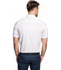koszula bexley 2488/2 krótki rękaw custom fit biały