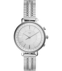 fossil women's tech cameron stainless steel bracelet hybrid smart watch 36mm
