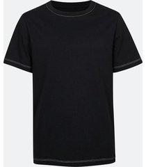 t-shirt med kontrastsömmar - svart