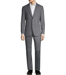 2-piece modern-fit plaid suit