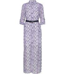 coral mosaic shirt dr maxi dress galajurk paars michael kors