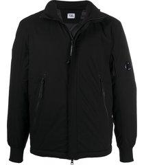 c.p. company funnel-neck jacket - black