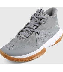 tenis basketball gris-blanco under armour ua sc 3zer0 iv