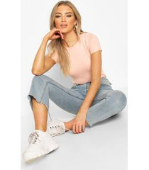 100% cotton crew neck t-shirt, pale pink