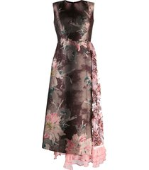 antonio marras floral patchwork dress - brown
