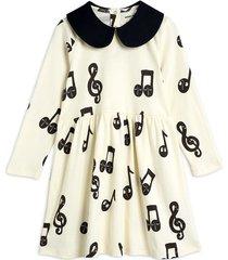 notes aop ls dress jurk wit mini rodini