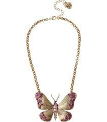 betsey johnson butterfly pendant necklace