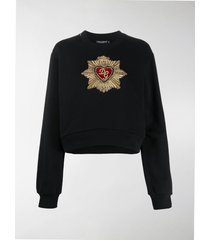 dolce & gabbana heart embellishment sweatshirt