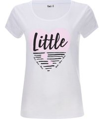 camiseta descanso little color blanco, talla l