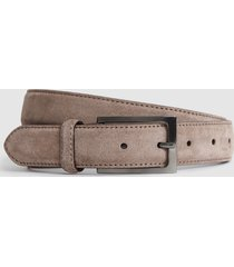reiss joopy - suede belt in mink, mens, size 36