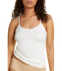 women's nordstrom bare scoop front camisole, size xx-large - white