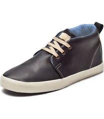 zapatilla negra levi's rustic w leather