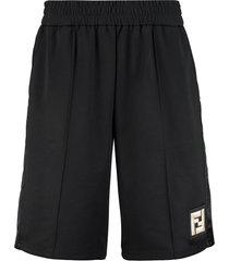 fendi techno fabric bermuda-shorts