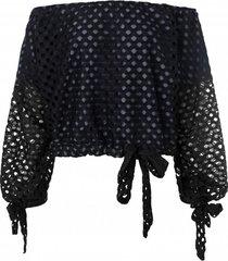 bluzka wiązana czarna