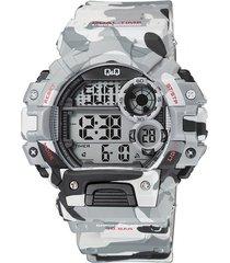 reloj digital camuflado q&q