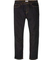 jeans i klassiskt snitt, med resår i sidan av midjan, raka ben