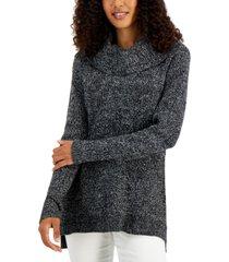 karen scott turtleneck basketweave sweater, created for macy's