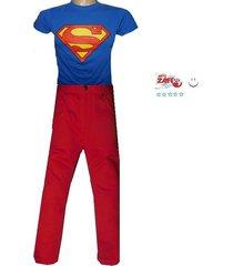 conjunto   camiseta superman  y pantalón  en drill